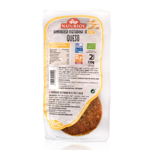 Hamb.Tofu/Queso (2u./150 g) Natursoy