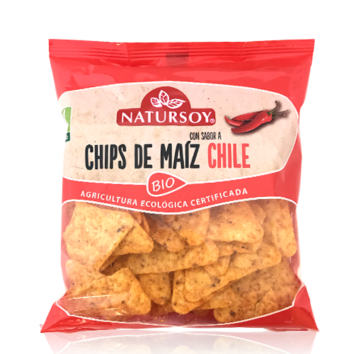 Chips de Maíz y Chili (75 g) Natursoy