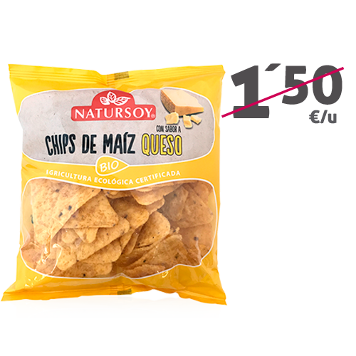 Chips Maíz/Queso (75 g) Natursoy