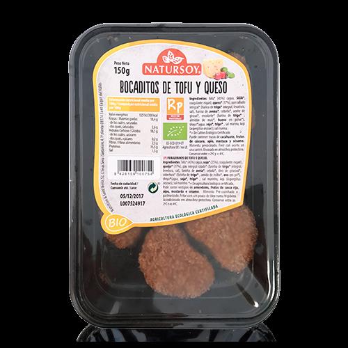 Bocaditos de Tofu y Queso Rebozados (150g) Natursoy