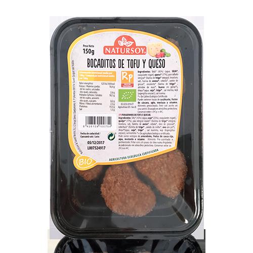 Bocaditos de Tofu y Queso Rebozados (150 g) Natursoy