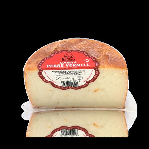 Queso de Cabra con Pimentón Rojo (1/2 u.) (450 g) Canadell