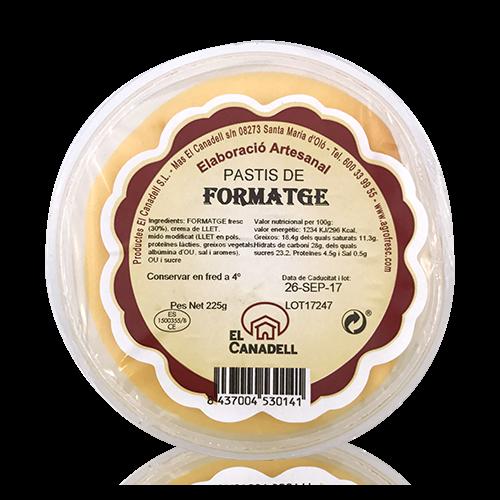 Pastís de Formatge (225 g) El Canadell