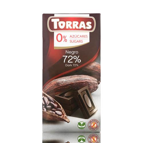 Xocolata Negra 72% (75 g) Torras