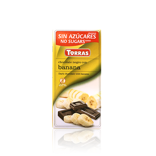 Xocolata Negra amb Banana (75 g) Torras