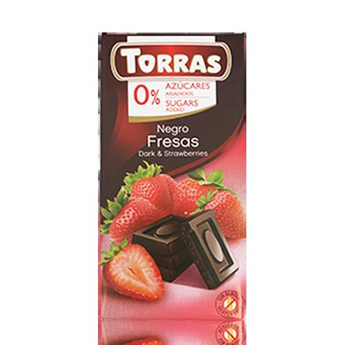 Xocolata Negra amb Maduixa (75 g) Torras