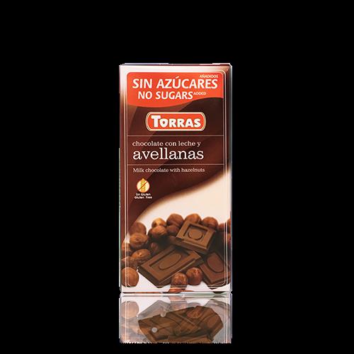 Xocolata amb Llet i Avellanes (75g) Torras