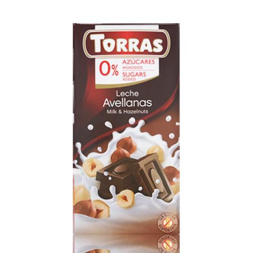 Xocolata amb Llet i Avellanes (75 g) Torras
