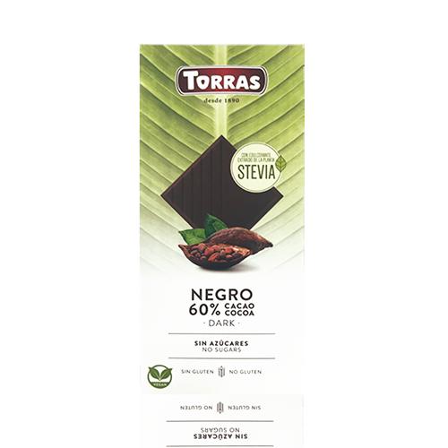 Xocolata Stevia Negra (100 g) Torras