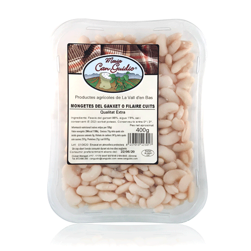 Mongetes del Ganxet Cuites (400 g) Can Guidic