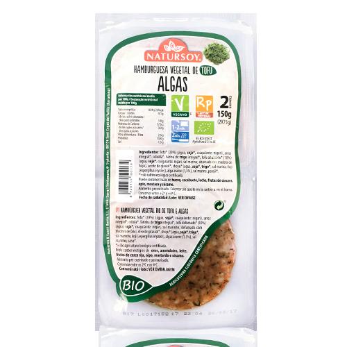 Hamb. Tofu i Algues (2u./150 g) Natursoy