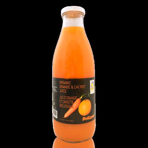 Zumo de Zanahoria y Naranja Bio (1 l) Delizum