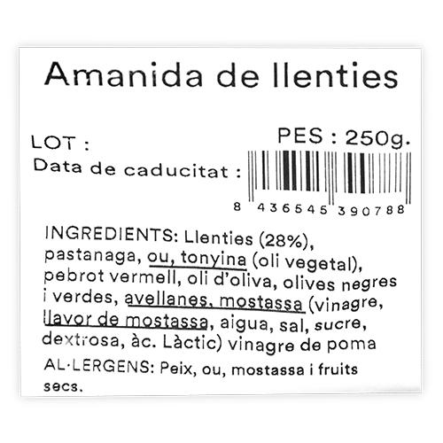 Amanida de Llenties (250 g) Mas el Guiu