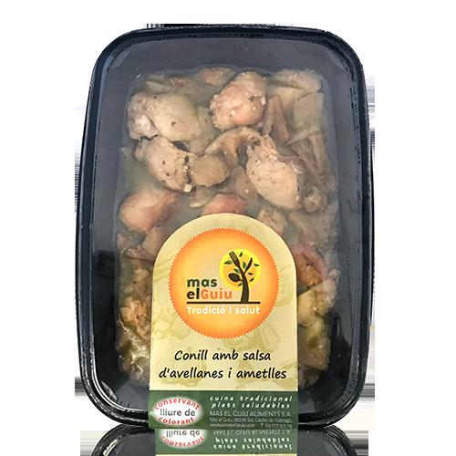 Conill salsa avellanes i ametlles (250 g) Mas el Guiu