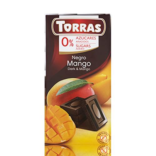 Xocolata Negre amb Mango (75 g) Torras