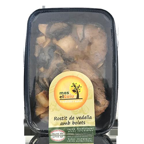 Rostit de Vedella amb Bolets (250g) Mas el Guiu