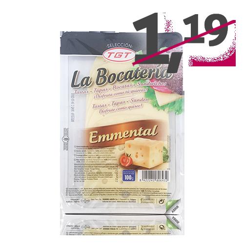 Formatge Emmental Rodanxes (100 g) La Bocatería