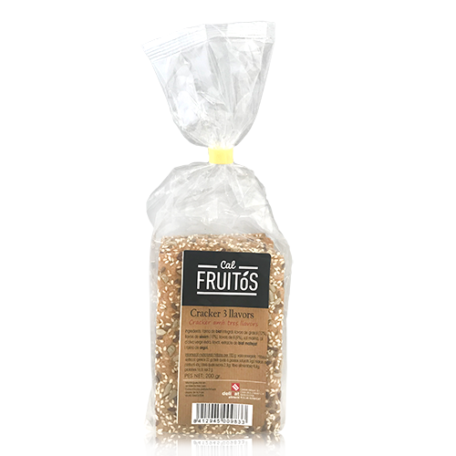 Cracker 3 llavors (200 g) Cal Fruitós