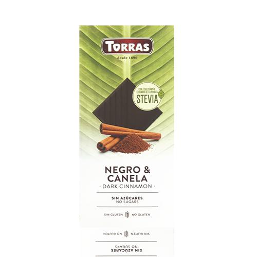 Xocolata Stevia Negra amb Canyella (125 g) Torras