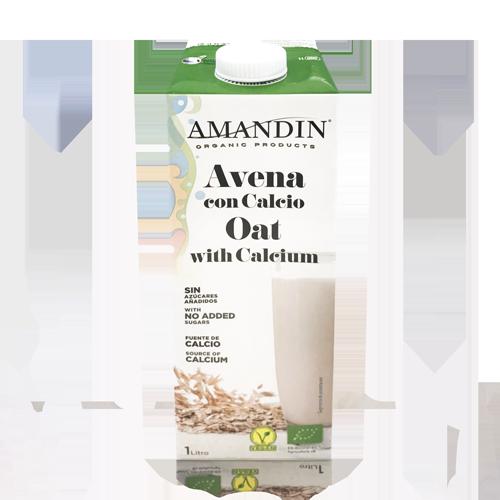 Bebida de Avena con Calcio Bio (1 l) Amandin