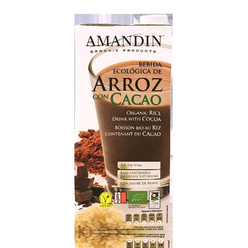 Bebida de Arroz con Cacao Bio 1l Amandin