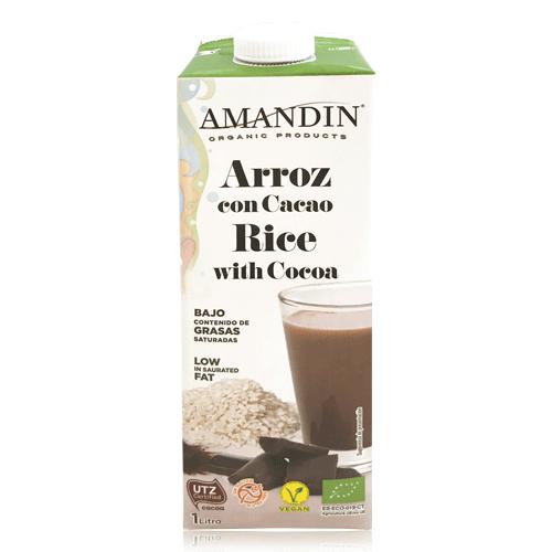 Beguda d´arròs amb Cacau Bio (1 l) Amandin