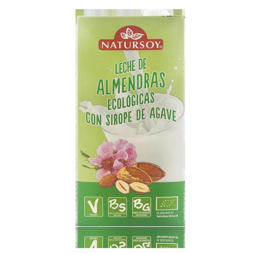 Beguda d'Ametlles amb Xarop d' atzavara (1l) Bio Natursoy