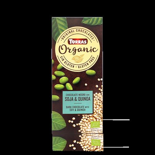 Xocolata Negre Orgànic de Soja i Quinoa (100 g) Torras