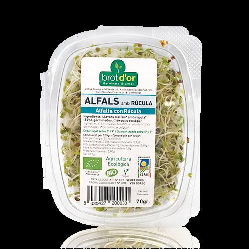 Germinat Bio d' Alfals amb Rúcula (70 g)