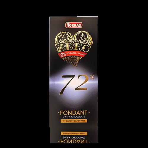 Xocolata Negra 72% Zero (100 g) Torras
