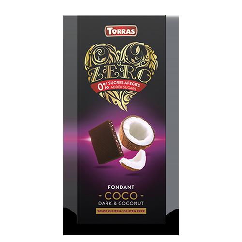 Xocolata Negra Zero de Coco (125 g) Torras