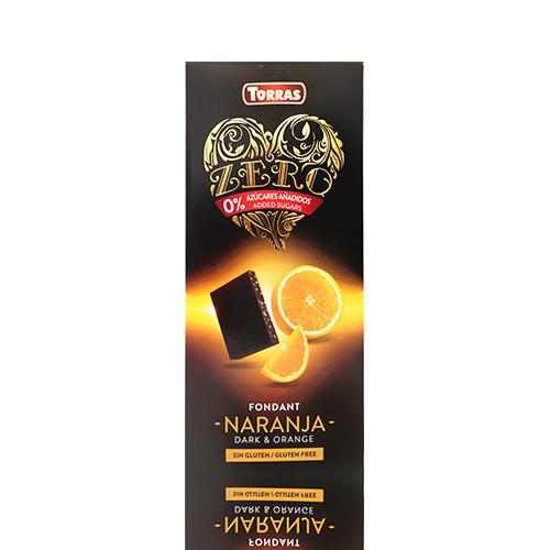 Chocolate Negro Zero de Naranja (125 g) Torras