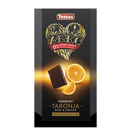 Xocolata Negra Zero de Taronja (125 g) Torras