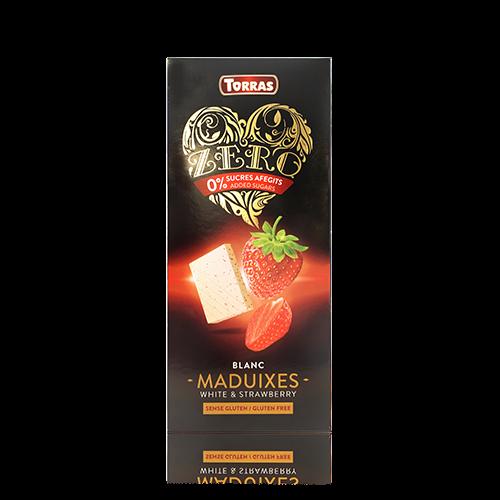 Xocolata Blanca Zero de Maduixa (125g) Torras