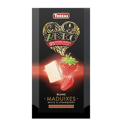 Chocolate Blanco Cero de Fresa (125 g) Torras