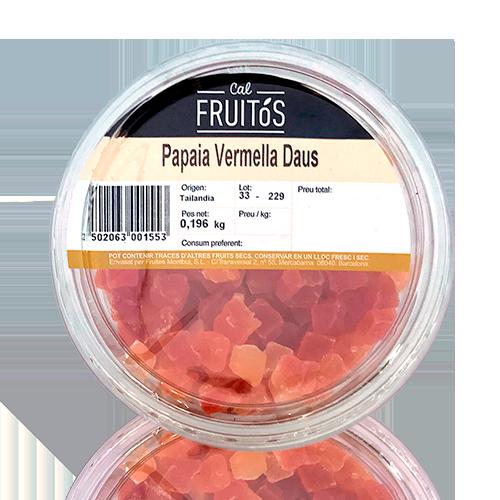 Papaia Vermella en Daus (200 g)
