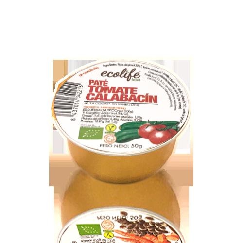 Paté de Tomate con Calabacín Bio (50 g) Ecolife