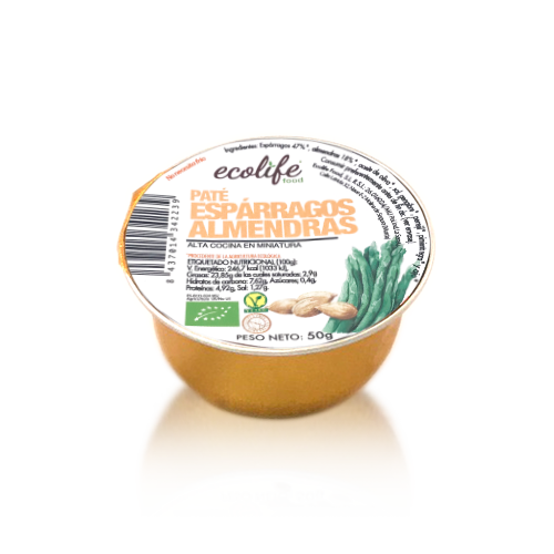 Paté d´Espàrrecs amb Ametlles Bio (50 g) Ecolife
