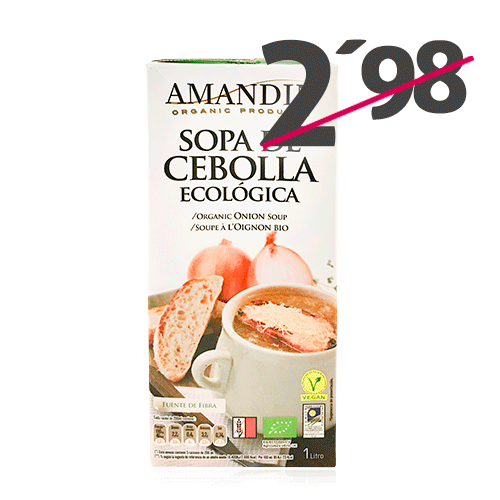 Sopa de Cebolla Ecológica (1 l) Amandin