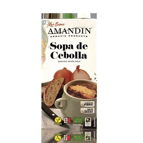 Sopa de Ceba Ecològica (1 l) Amandin