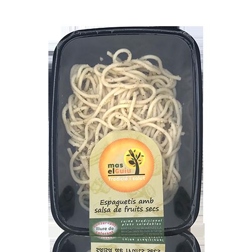 Espaguetis amb salsa de fruits secs (250 g) Mas el Guiu