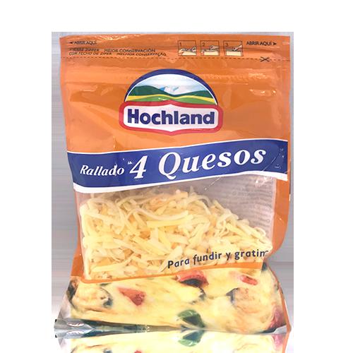 Queso Rallado 4 quesos (150 gr) Hochland