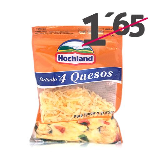 Queso Rallado 4 quesos (150 g) Hochland