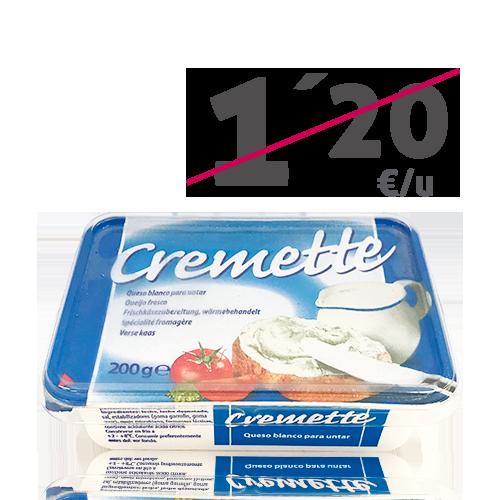 Queso Cremoso para untar (200g) Cremette