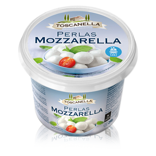 Perles de Mozzarella Fresca de Vaca (125 g) Toscanella