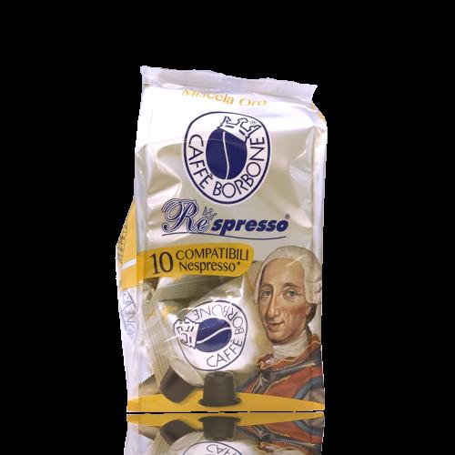 Cafè Respresso Borbone Oro 10 càpsules