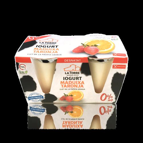 Yogur Desnatado Fresa y Naranja (2x125 g) La Torre