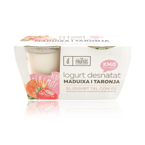 Iogurt Desnatat Maduixa i Taronja (2x125 g) Cal Fruitós