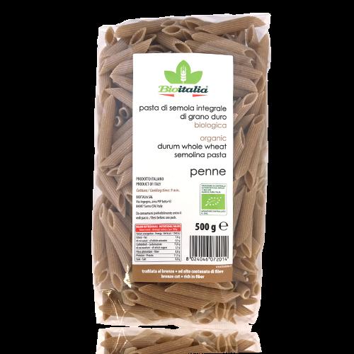 Penne Rigate Integrali Bio (500 g) Bioitalia