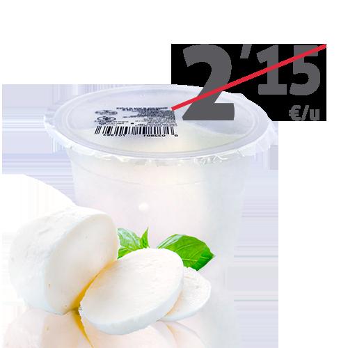 Mozzarella Búfala (125 g) Borbonia.